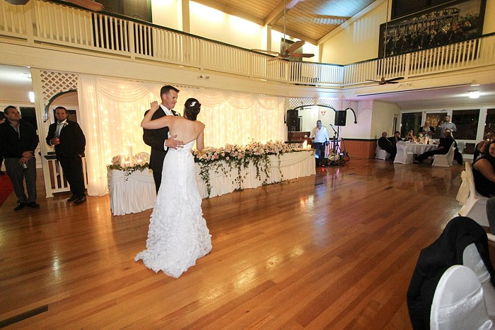 Denise and Sami's nuptials.Bridal waltz in the Reception centre